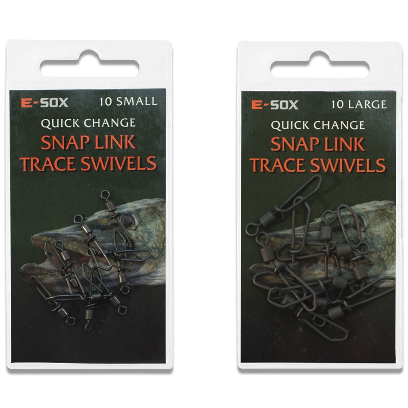 Esox Quick Change Snap Link Trace Swivels Pack of 10