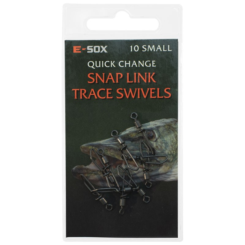 Esox Quick Change Snap Link Trace Swivels Pack of 10 image 2