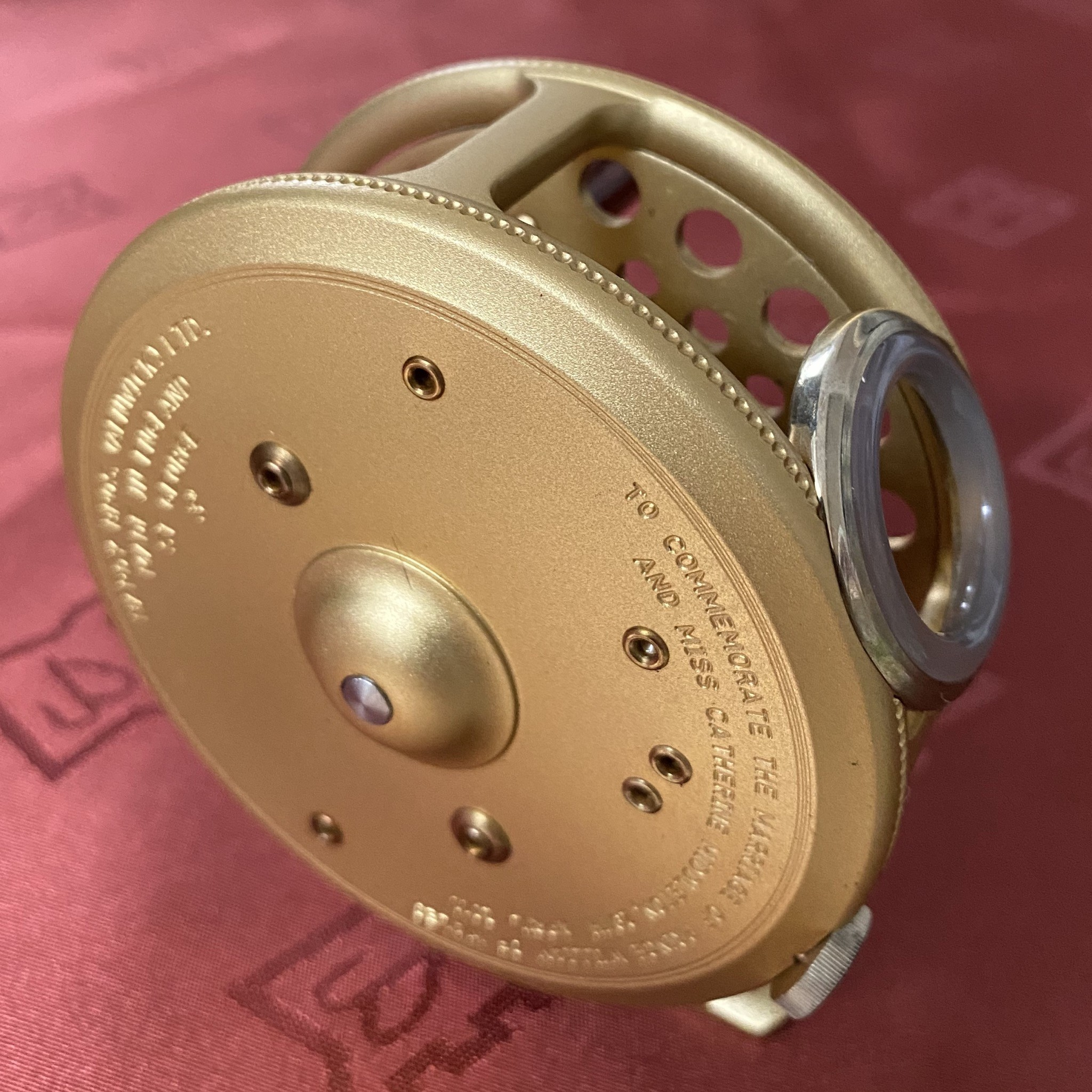 St. George The Royal Wedding Commemorative 3 inch Fly Reel MADE IN ENGLAND - LIMITED EDITION