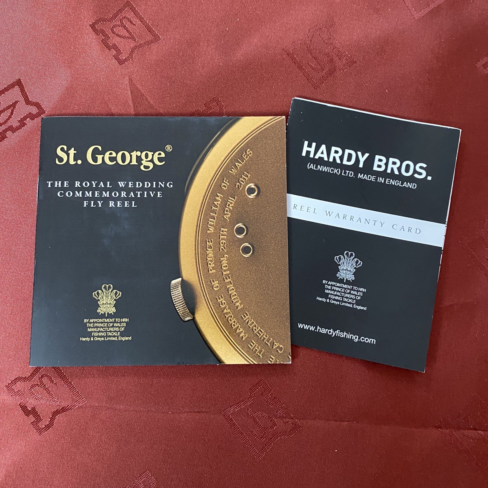 St. George The Royal Wedding Commemorative 3 inch Fly Reel MADE IN ENGLAND - LIMITED EDITION image 9