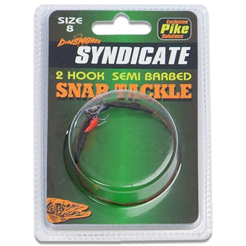 Syndicate 2 Hook Snap Tackle Traces