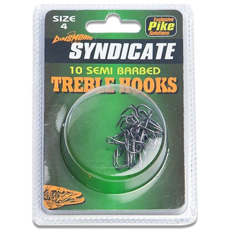 Syndicate Semi Barbed Treble Hooks