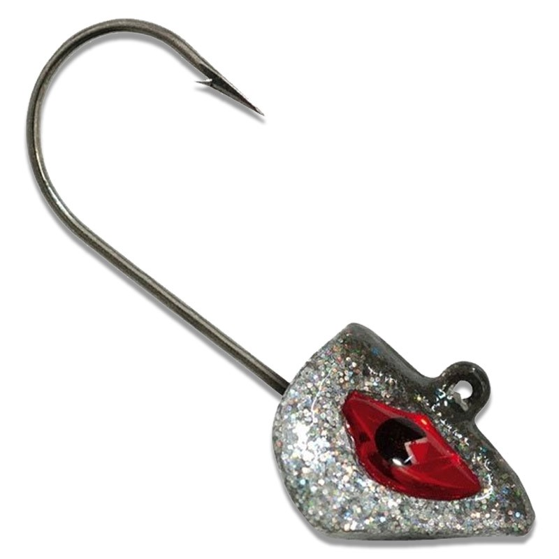 Tetra Head Glitter Silver Black Jig Heads Pack of 4 image 1
