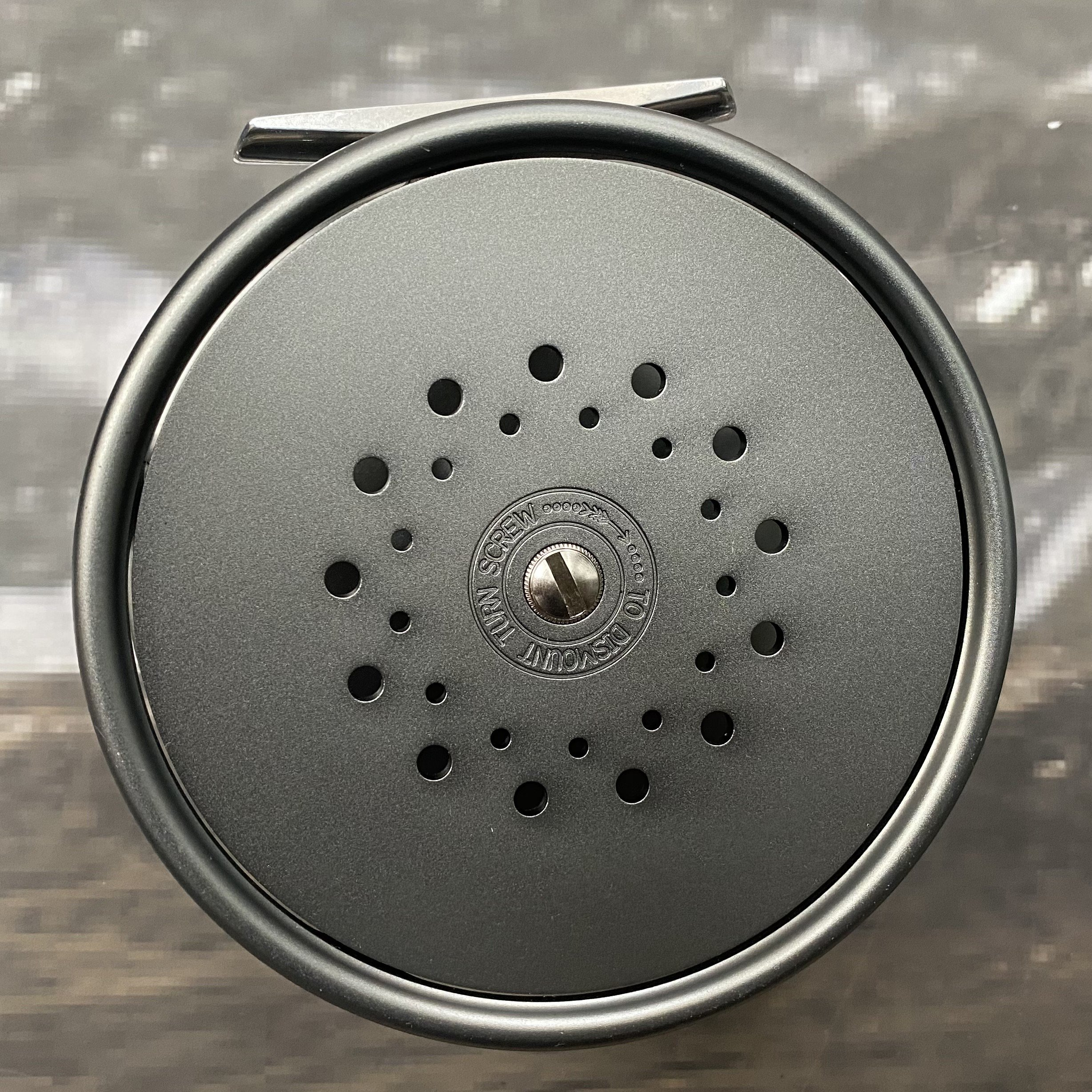 2008 Perfect Salmon Fly Reel with Rotating Agate Line Guard MADE IN ENGLAND image 2