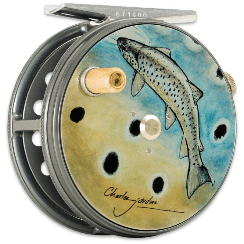 Charles Jardine Artwork Perfect Fly Reel Brown Trout MADE IN ENGLAND - LIMITED EDITION image 1