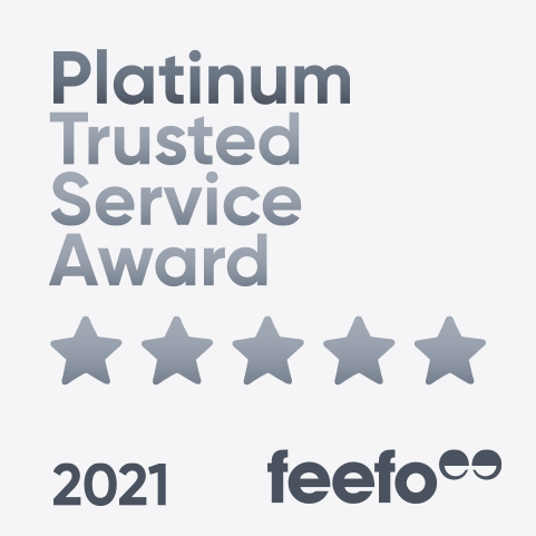 Feefo gold trusted service award