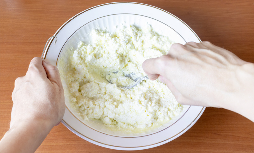 Making Cheese Paste for Fishing